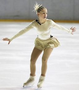 Girl figure skating
